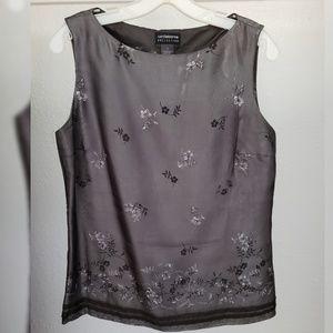 Elegant Liz Claiborne gray shift top (Size 8)